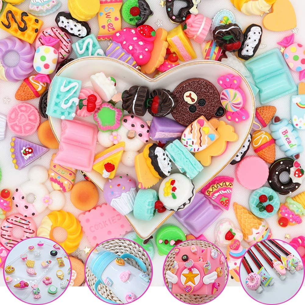SUKPSY online shopping 50 Pcs Colorful Mix Candy Charm Special price Cake Flatback Sweet Slime