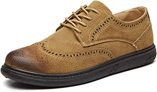 Mens Oxfords Leather Basic Dress Formal Brogue Shoes Man Fashion Classic