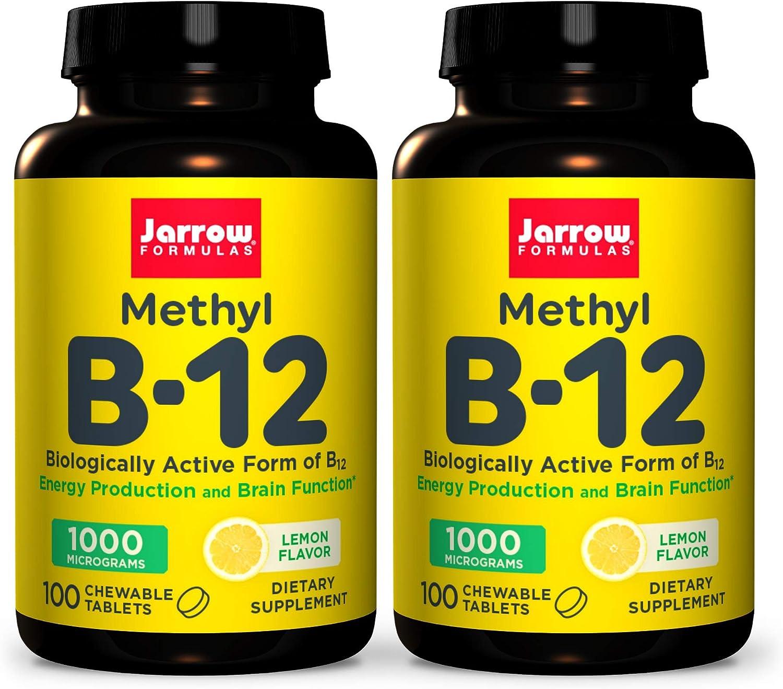 Jarrow Formulas Methyl B-12 Super-cheap 1000 mcg - 100 Lem Max 62% OFF Tablets Chewable