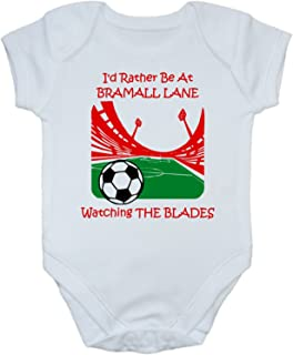 Hat-Trick Designs Southend United Football Baby Babygrow//Vest//Bodysuit//Romper-White//Blue//Pink-Born /& Bred-Unisex Gift