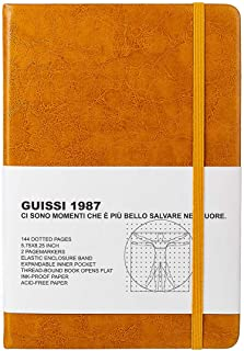 Guissi Classic Dotted Grid Bullet Notebook Journal Dot Hard Cover A5 Premium 100gsm Thick Acid-Free Paper with Fine Inner ...