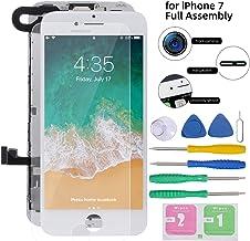 تعویض صفحه نمایش برای آیفون 7 سفید صفحه نمایش لمسی صفحه نمایش کامل 4.7 مونتاژ LCD با Camera دوربین جلو Sens Sens سنسور مجاورت】 Speaker بلندگو گوشواره】 محافظ صفحه نمایش ، ابزار تعمیر