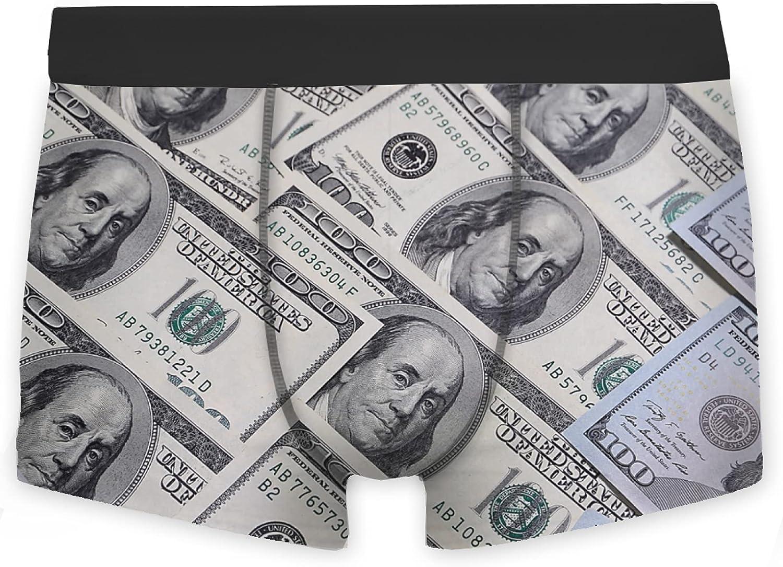 OcuteO Men's Boxer Briefs Dollars Vector Brief Underwear Low Rise Adult Boys Underpan
