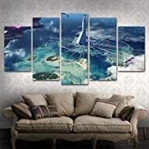 Latest Falcon Painting Leopard Mountain Poster Living Room Picture 5 Board