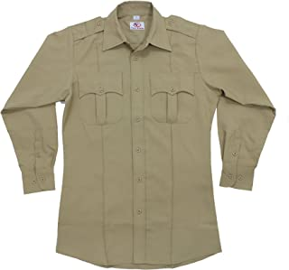 100% Polyester Long Sleeve Men's Uniform Shirt Tan