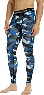 COOLOMG Mens Compression Pants Baselayer Cool Dry Sports Pants Leg Tights Men Boys Youth 20+ Colors Patterns