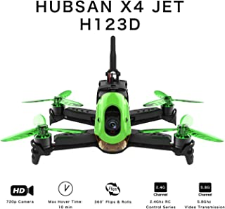 Hubsan H123D X4 Jet Racer Brushless Drone 720P Cámara 5.8 GHz FPV 2.4 GHz RC Cuadricóptero con Transmisor HT012D