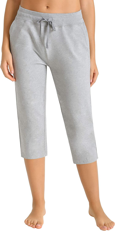 Latuza Bombing new work Women's Nippon regular agency Cotton Joggers Knit Capri Pants Pockets with