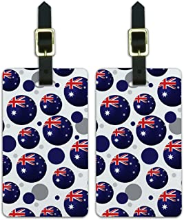 Graphics and More Soccer Futbol Football Country Flag A-i - Australia Flag Soccer Ball, White (White) - Luggage.Tags.09767