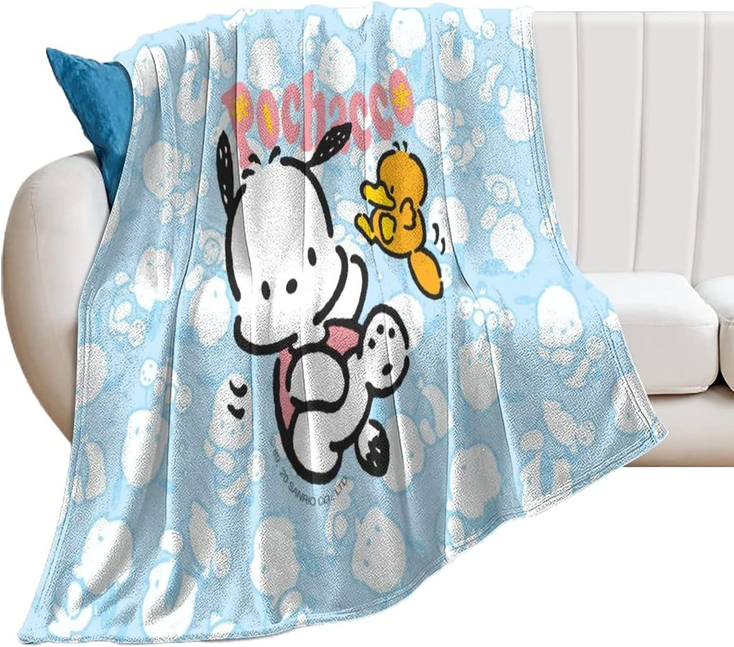 Super-cheap Poch-acco Flannel Throw Blanket Max 79% OFF Cozy Pilling Prevent Resi Fluffy