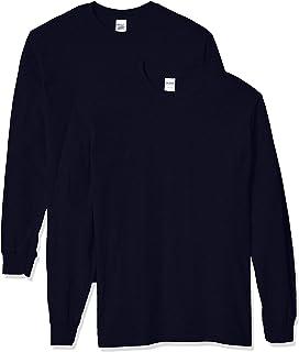 Gildan Men's Heavy Cotton Long Sleeve T-Shirt, Style G5400, 2-Pack