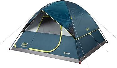 خيمة تخييم من كولمان | خيمة تخييم مقببة في غرفة مظلمة بستة أشخاص، مع إعداد سريع للرسم، لون أزرق