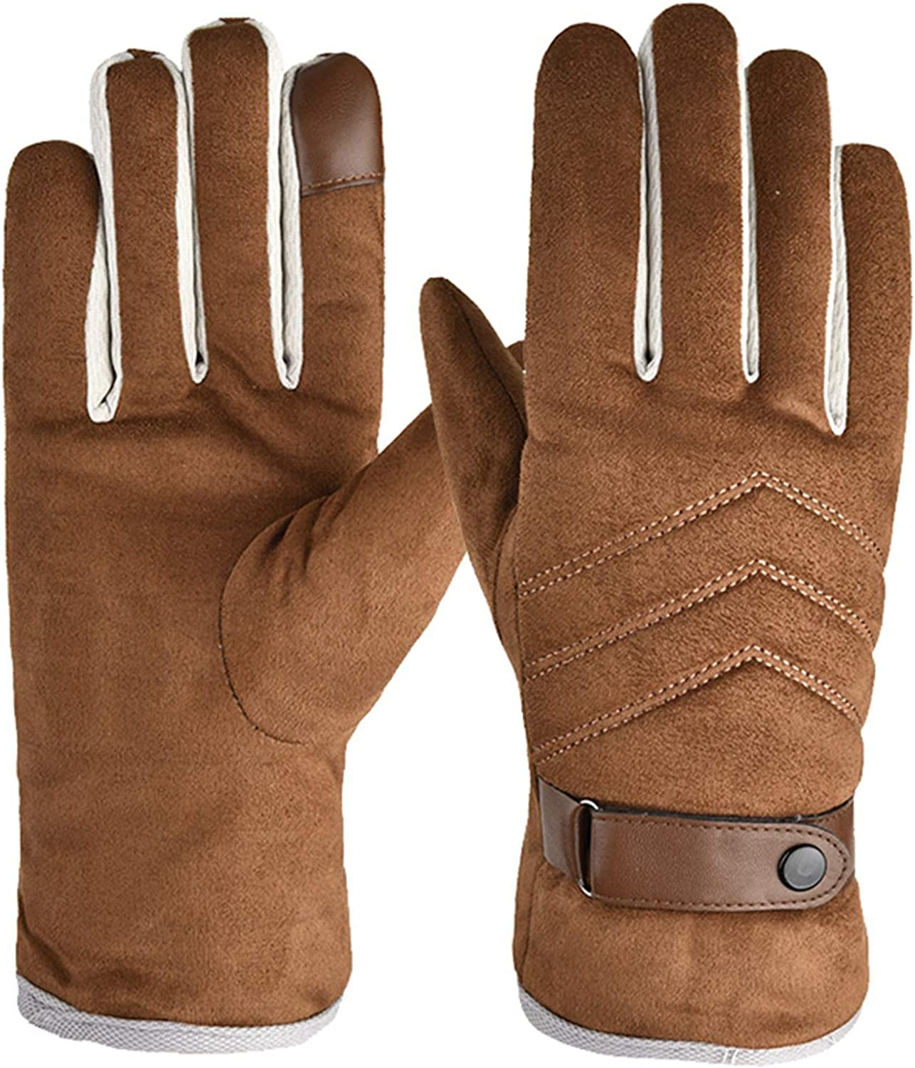Adult's Ski Gloves,Outdoor Windproof Warm Cold And Velvet Sports Riding Skating Gloves
