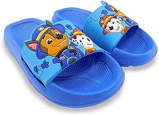 PAW Patrol Chase Marshall Boys Blue Toddler Slipper Slide Sandal