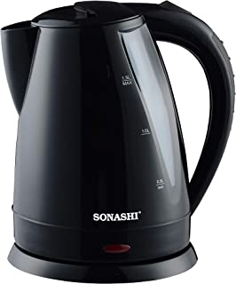 Sonashi 1.5 Liter Cordless Kettle, Black - Skt-1501