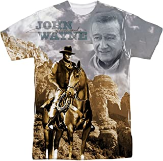 John Wayne Ride Em Cowboy Mens Sublimation Shirt