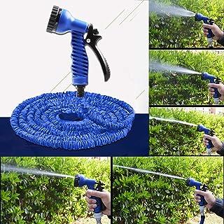 2.5m -7.5m Telescopic Pipe Expandable Magic Flexible Garden Watering Hose with Spray Gun Set(Blue).