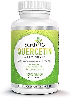 Earth Rx Quercetin with Bromelain - Powerful Combination Quercetin Bromelain Complex - Anti-Inflammatory - Antioxidant - I...