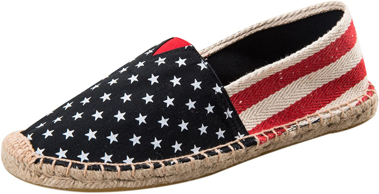 SK Studio Women's Ballet shoes Stars and Stripes Canvas Flat