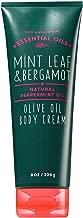 Bath & Body Works Mint Leaf & Bergamot Body Cream With Olive Oil 8 Ounce
