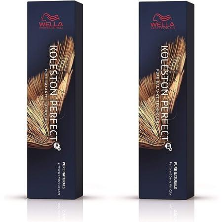 Wella Koleston Perfect Me+ KP Pure Naturals 6/07 - Pack de 2 unidades, color rubio oscuro natural y marrón