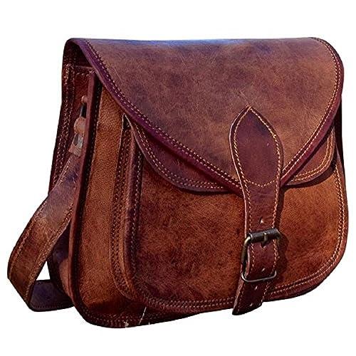 9503a2efed Hand Made Serguio Rogetti Designer Real Leather Satchel Saddle Tablet Hand Bag  Retro Rustic Vintage