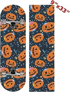 Anneunique Custom Galaxy Pumpkin Skateboard Grip Tape Sheet 9