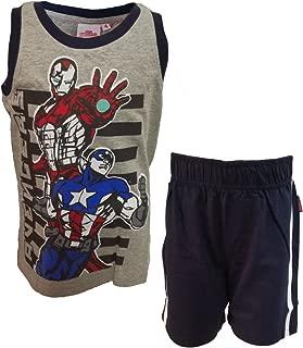 Completo Bimbo Corto Mezza Manica Puro Cotone Spiderman Marvel Art 72-201