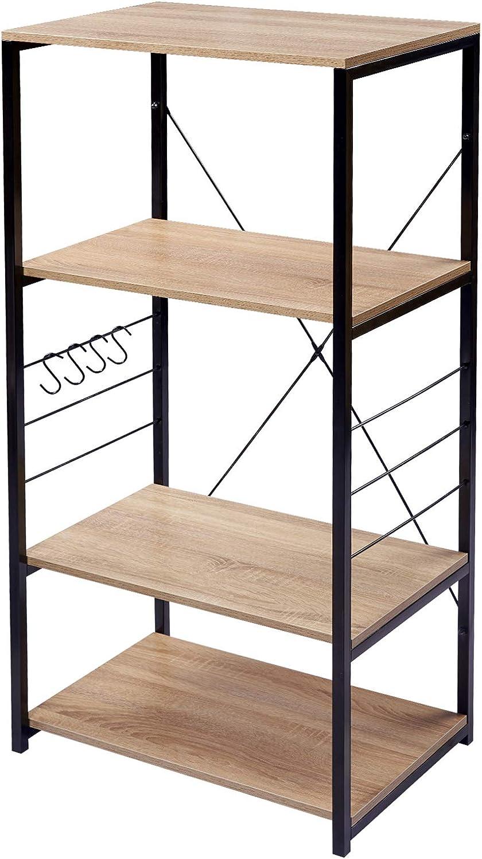 eSituro SSTR0058 Standregal Mehrzweckregal Schuhregal Badregal K/üchenregal Aufbewahrung f/ür Badezimmer Diele platzspazierend modern Stil 3 Ablagen Schwarz+Nussbaum Metall+MDF 60x40x82CM