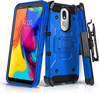 CasemartUSA Phone Case for [LG STYLO 5], [Tank Series] Shockproof Heavy Duty Impact Resistant Cover with Kickstand & Holst...