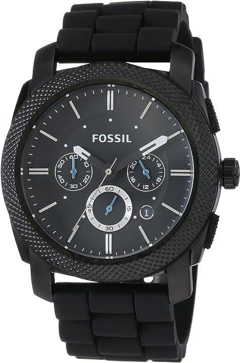 Orologio fossil cronografo quarzo uomo con cinturino in silicone fs4487
