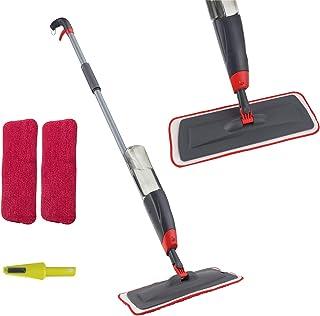 Venetio Premium Spray Mop 2 Reusable Microfiber Pad 360 Degree Rotation Joint for Home Kitchen Hardwood Laminate Wood Cera...