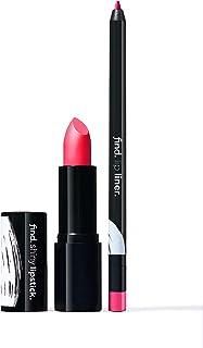 Marca Amazon - find. Bold Beauty (Barra de labios brillante n.8 + Perfilador de labios n.5)