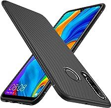 iBetter per Huawei P30 Lite Cover, Soft Rubber Protettiva Cover, Protezione Durevole, per la Huawei P30 Lite Smartphone.(Nero)