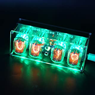 IN12 Nixie Clock LEDランプチューブクロック電子キットIN12グローチューブクロック回路基板グローチューブDIYレトロクロックモジュール New