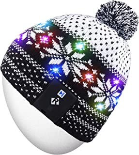 Stylish LED Light Up Beanie Hat Knit Cap Best Presents for Unisex Men Women Indoor and Outdoor, Festival, Holiday, Celebration, Parties, Bar, Christmas Gifts