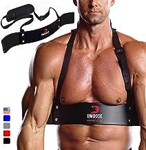 DMoose Fitness Arm Curl Blaster dik aluminium, robuuste klinknagels, contour en verstelbaar - verbeterde definitie en spie...