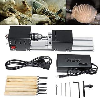 Mini torno máquina de bolas para trabajar la madera bricolaje pulidor de corte taladro herramienta rotativa