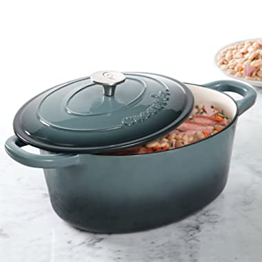 Crock Pot Artisan 7QT Oval Dutch Oven, Gray