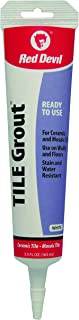 Red Devil 0425 Pre-Mixed Tile Grout Repair Squeeze Tube, 5.5 oz, White