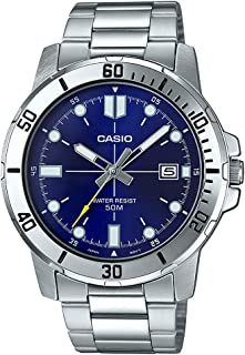 MTP-VD01D-2EV Men's Enticer Stainless Steel Blue Dial...