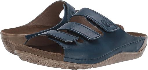 Blue Vegi Leather