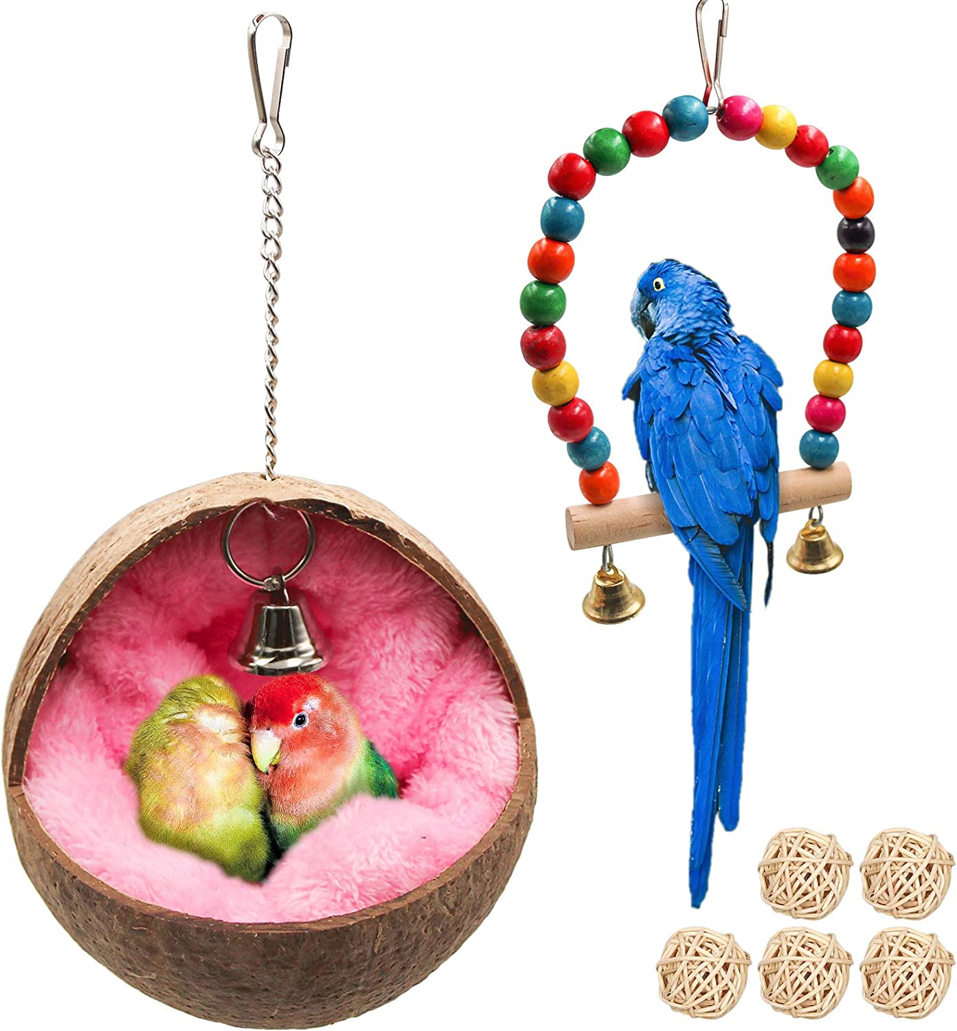 Natural Coconut Bird Nest Parrot Coco Bed Warm House OFFer with Hut Ma Ranking TOP9