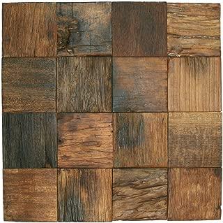 Reclaimed Boat Wood Tile 3
