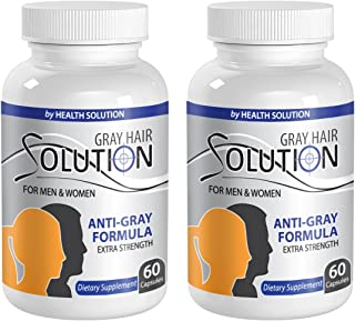 Catalase supplement - GRAY HAIR SOLUTION FOR MEN AND WOMEN - Anti gray hair pills (2 Bottles 120 Capsules)