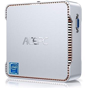ACEPC Mini PC, 8 GB DDR4 / 128 GB ROM, Intel Celeron J4125 Windows 10 Pro Mini computadora, WiFi de Banda Dual 2.4 G / 5 G, Conexiones 4K HD, HDMI/VGA …