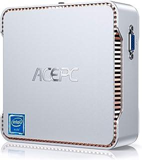 ACEPC Mini PC, 8 GB DDR4 / 128 GB ROM, Intel Celeron J4125 Windows 10 Pro Mini computadora, WiFi de Banda Dual 2.4 G / 5 G...