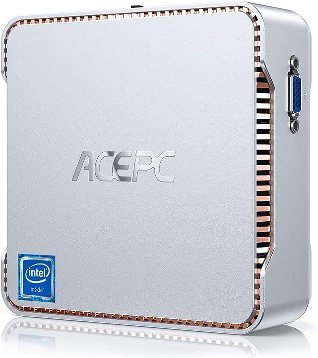 Mini pc, 8gb ram + 128gb rom, intel celeron j4125 (fino a 2,7 ghz) windows 10 pro acepc B0899F2N5J