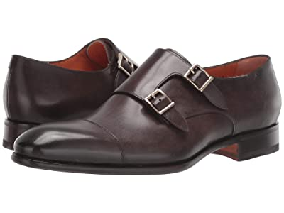 Santoni Innocent Double Buckle Monk (Dark Brown) Men