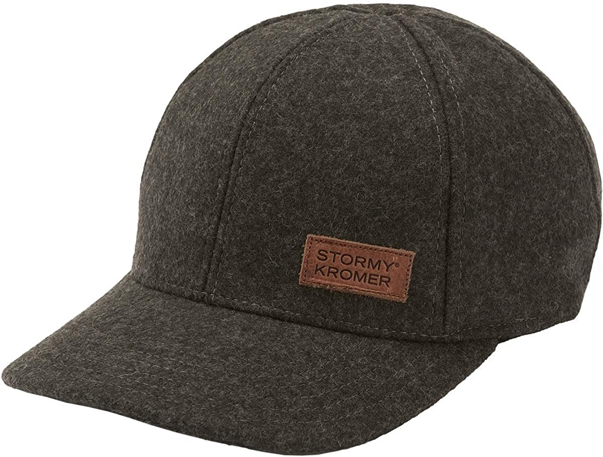Stormy Kromer The Adjustable Curveball Cap - Premium Wool with Classic Baseball Hat Style Dark Charcoal
